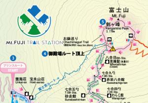 富士山御殿場口登山MAP